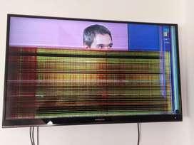 Tv led Philco 39 pulgadas pantalla partida