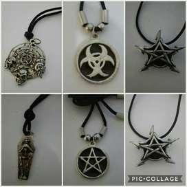 Collares medallon rock metal gotico