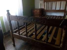 Vendo juego de dormitorio de 1 plaza estilo provenzal
