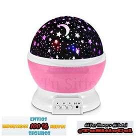 Envio Gratis Lampara Proyector de Estrellas y Luna Giratoria rose