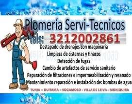 SERVICIO DE PLOMERIA O PLOMERO DESTAPONAMIENTO SONDA ELECTRICA