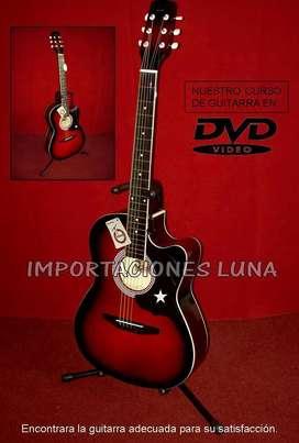 guitarras acusticas rojo roja