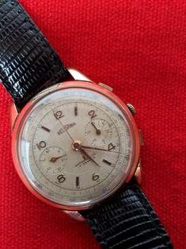Reloj Antiguo Delbana Suizo Cronometro Caballero Enchapado en Oro