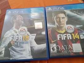 FIFA 18 y 14 Ps4
