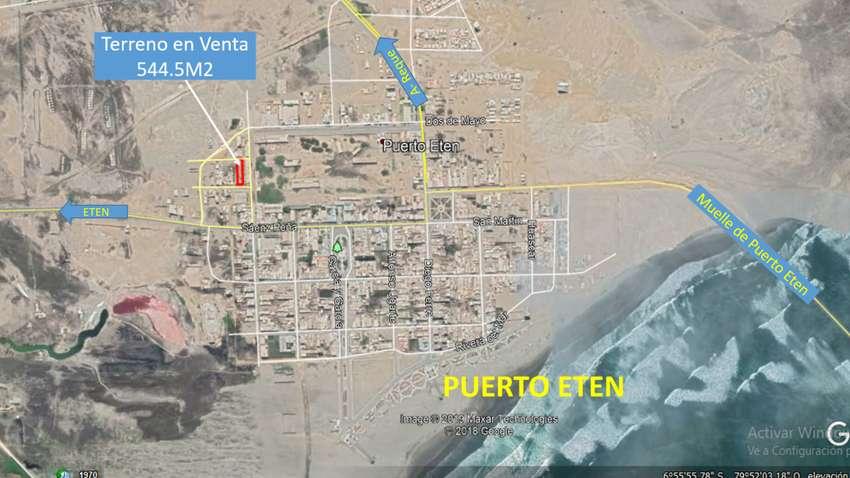 OPORTUNIDAD Terreno en Puerto Eten 554.5m2 0