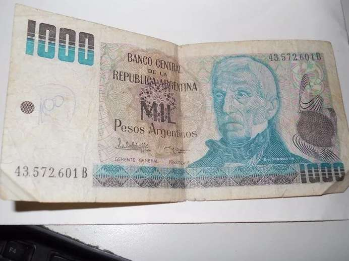 Billete De 1000 Pesos Argentinos 0