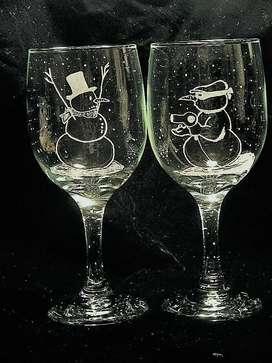 Grabado en vidrio vasos