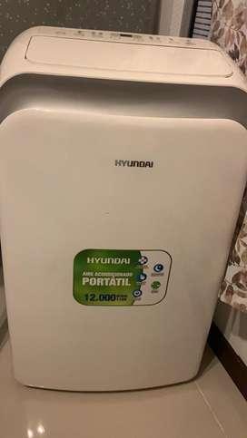 Aire acondicionado portatil, marca hyundai