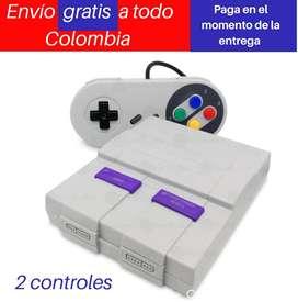 Consola retro juegos originales tipo Super nintendo