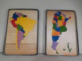 Mapas Didacticos De Argentina Y Sudamerica En Madera Terciada