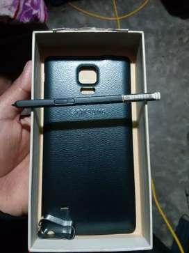 Tapa y lapiz de Samsung Note 4
