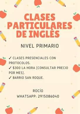 Clases particulares de Inglés nivel primario