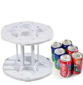 Organizador de latas giratorio para alacena o heladera