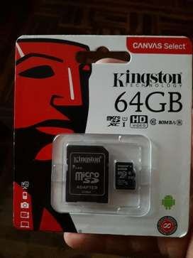 Micro Sd Kingston 64gb Clase 10 de 80mb