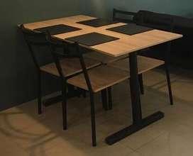 5 juegos de mesa con sillas para restaurante