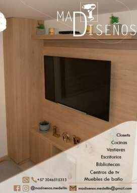 Muebles en madera para tu casa y oficina.