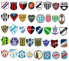 Coleccion De 169 Escudos De Futbol De Argentina Vectores