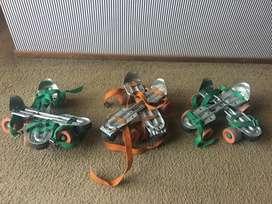 Patines extensibles de cuatro ruedas