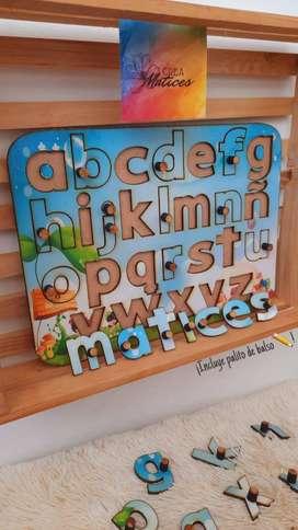 Juego dida´ctico ¡aprendamos a escribir el abecedario!