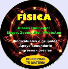 FISICA  clases online Skype o Zoom