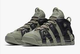 Botas Zapatillas Nike Uptempo Verde Militar Dama Original