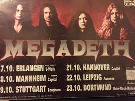 Poster Megadeth Enmarcado Original