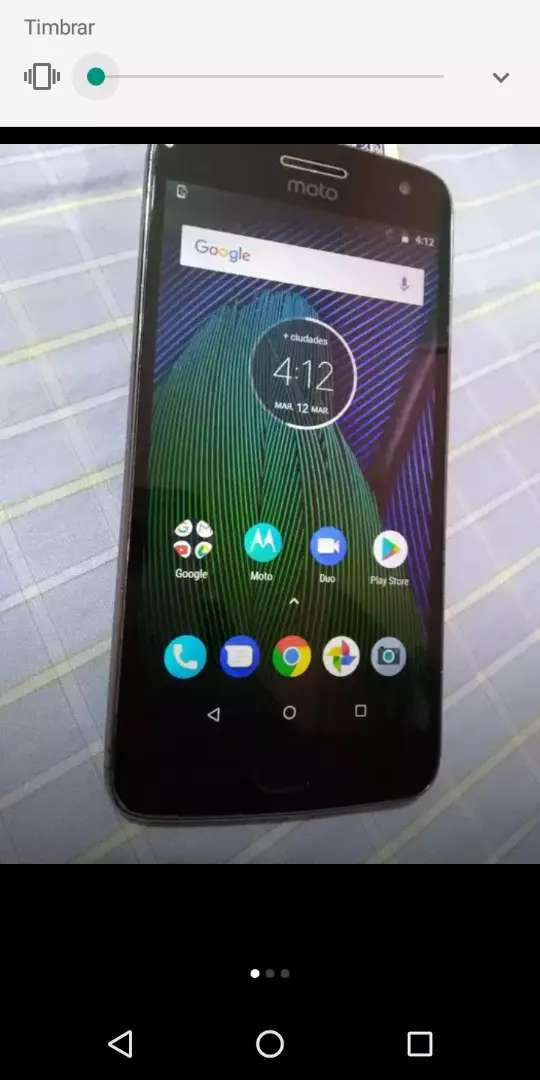 Se vende Motorola e5 play con lector de  huella 0