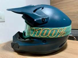 Casco Fly con visor 100%