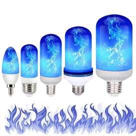 Foco Led Llama Azul E27 9W 62x152MM