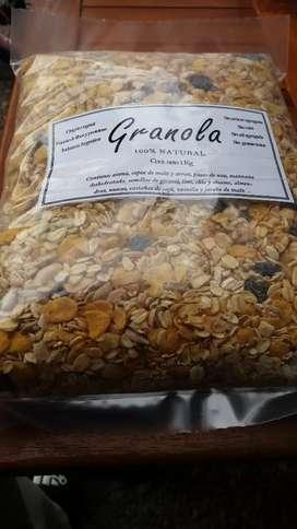 Granola y mix de frutos secos