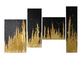 Juego de cuadros de pintura acrílica sobre lienzo