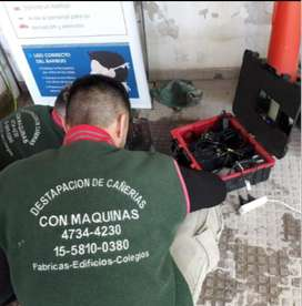 destapaciones con maquinas y video inspeccion cloacales y pluviales