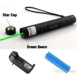 Puntero Laser Recargable 10 Km Luz Verde Con Llave  Cargador  Laser