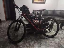 Bicicleta optimus, cambios y frenos nuevos