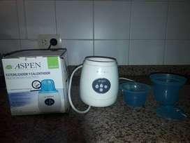 Calentador y Esterilizador de mamadera con accesorios completo Aspen