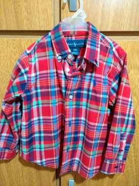 Camisa Bebe Marca Polo Talle 18 Meses