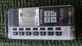 Zapatilla USB 7 PUERTOS CON CORTE INDIVIDUAL