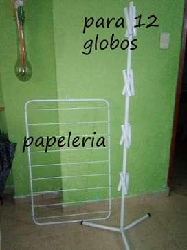 EXHIBIDOR GLOBOS Y PAPEL