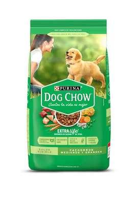 Alimento  Dog Chow 22.7 Kg  Cachorros Razas Medianas y Grandes Entrega a Domicilio En Loja