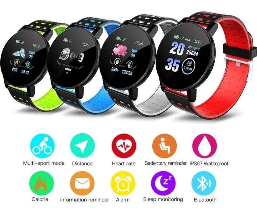 Reloj Inteligente Smartband 119 PLUS Podómetro, Tensión, Ritmo, Fit, deportivo, ejercicio