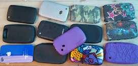 Lote estuche forro protector celulares blackberry iphone