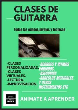 clases de musica.Guitarra,piano teoria.
