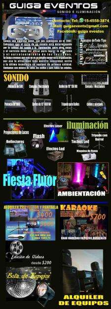 GUIGA EVENTOS Sonido iluminacion video karaoke