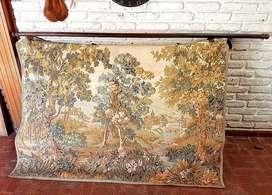Esectacular cuadro tapiz gobelino decorativo impecable