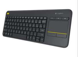 Logitech K400 Plus, Teclado Inalámbrico Touch