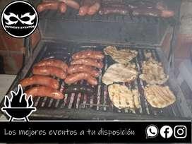 Servicio de parrillero para asados familiares, parrilladas a domicilio platos de comida servicio de mesero en bogotá