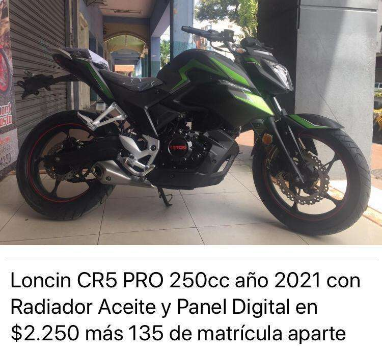 Moto Loncin CR5 Pro 250cc con Radiador de Aceite Precio Directo de Fabrica año 2022