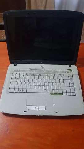Notebook Acer pantalla grande, lectograbadora cd dvd, wifi, 2gb ram. Funciona solo enchufada Zona San Martín