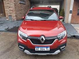 Renault sandero stepway intens, año 2020, full, manual, nafta 1.6, color bordó, km 1700