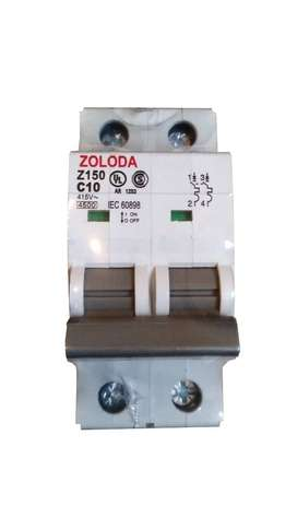 Interruptor Termomagnetico Bipolar 10a Zoloda Z150350